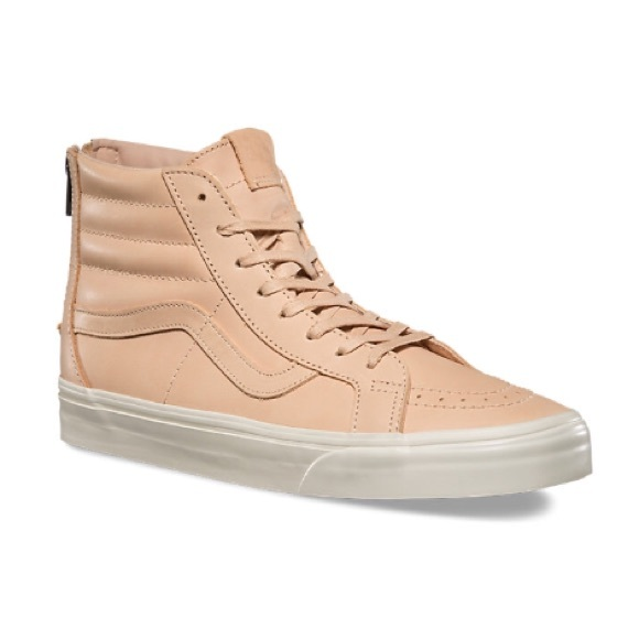 8952fe650b Vans Shoes - Vans VEGGIE TAN LEATHER SK8-HI REISSUE ZIP DX